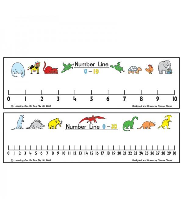 Number Line 1 - 30