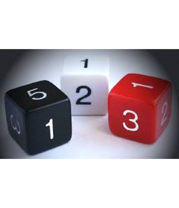 Dice Pack of 30 Numbers