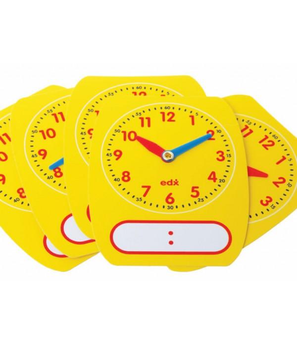 Write On Wipe Off Clocks Pack Of 5