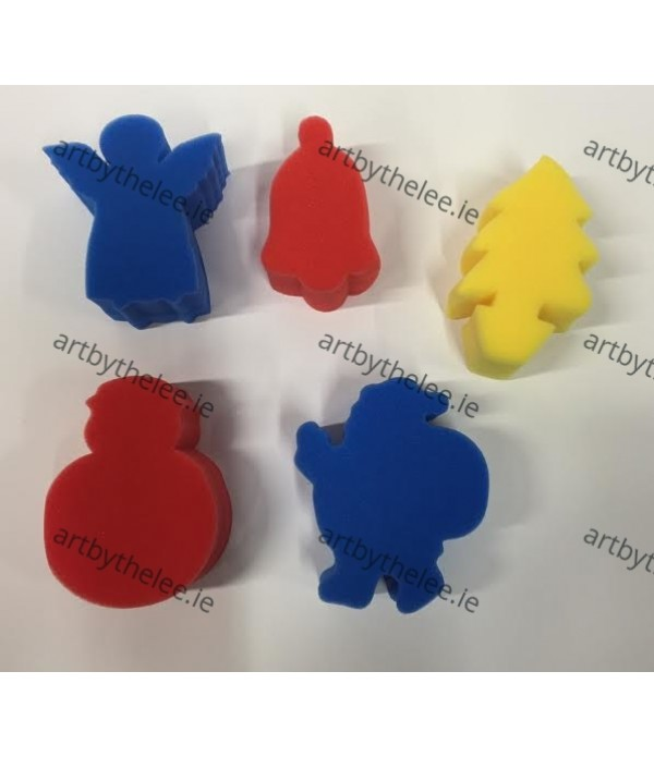 Sponge Paint Stampers Christmas