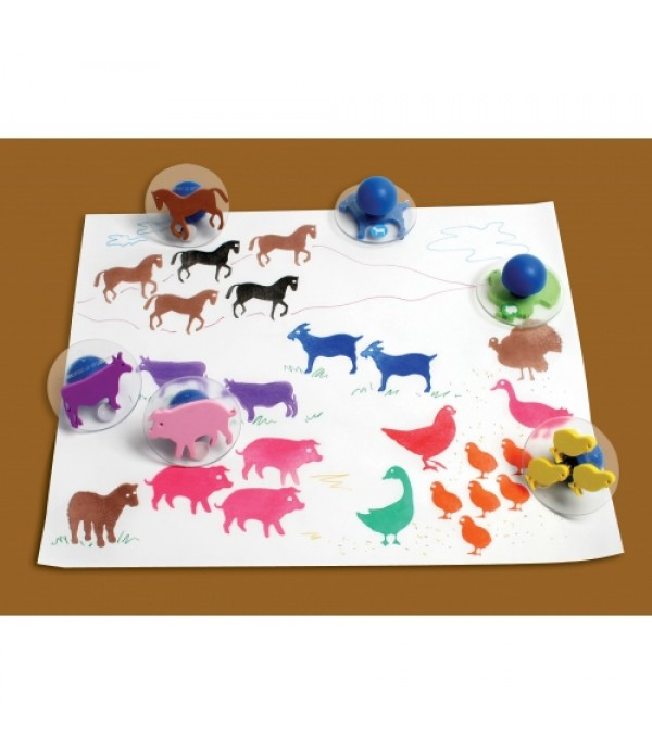 Giant Farm Animals Stampers