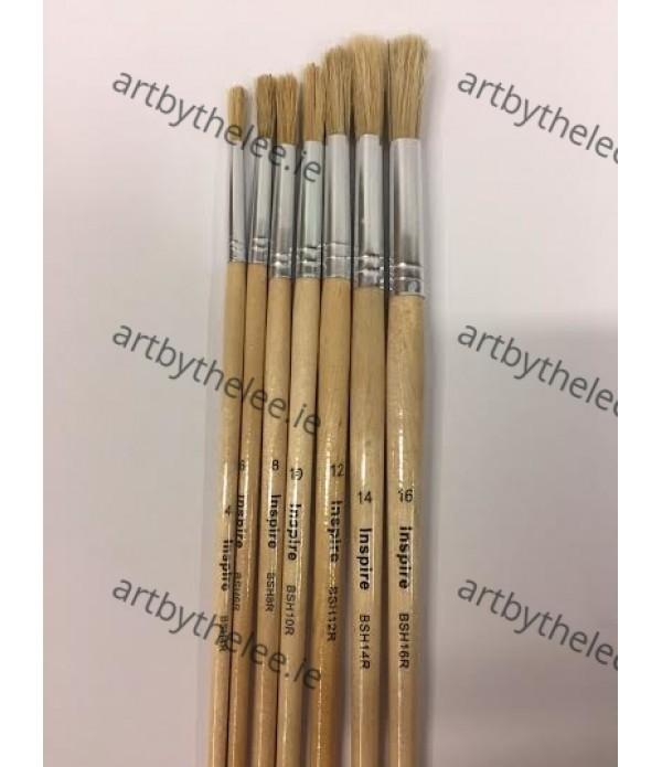 Paint Brushes Hog Pack 12. Size 4-16