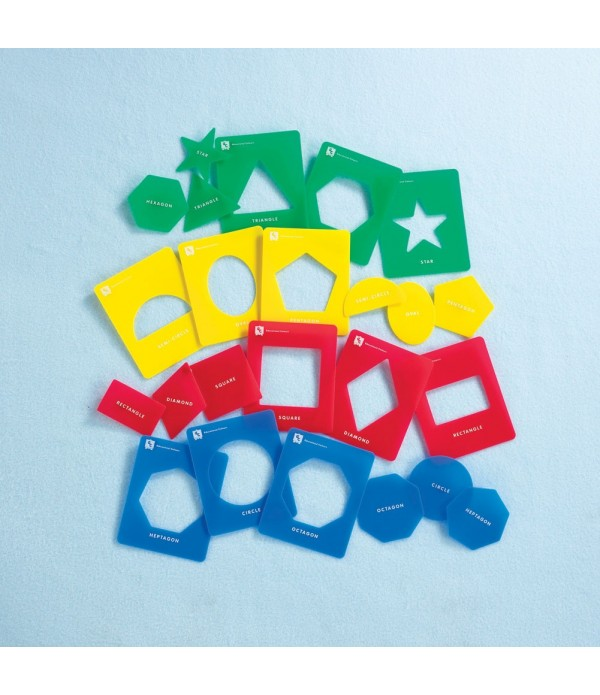 Washable Geometric Shape Stencils