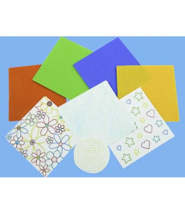 Rubbing Plates Pattern Set of 4