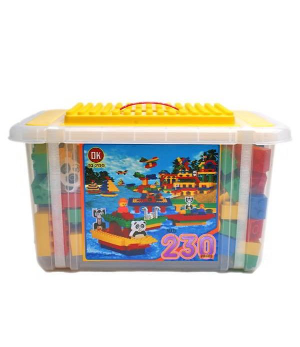 Plastic Construction Blocks 230 Pieces
