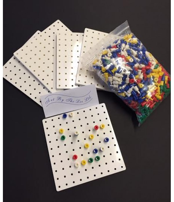 Stackable Pegs &  Pegboards Set